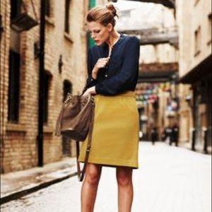 Boden mustard A line pique skirt size 6 EUC